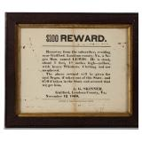 1861 Loudoun Co., VA runaway slave broadside