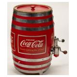 Coca-Cola barrel dispenser