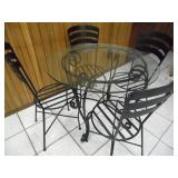 Hampton Bay Wrought Iron Patio Set - current bid $25