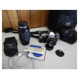 Olympus Camera & Zuiko 50/Kino 80-200mm Lens - curret bid $10