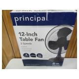 New Principle 12-inch Table Fan - current bid $10