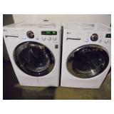 Working LG Steam Washer Dryer Set - current bid $225