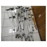 (9 Pairs) of Adult Crutches - current bid $10