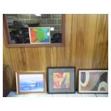 (4) Framed Artwork - current bid $10