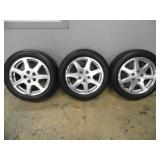 (3) Cadillac 17-inch Rims & Tires - current bid $25
