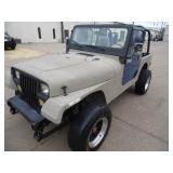 1993 Jeep Wrangler 4x4 103k miles - Runs - current bid $1550