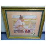 Field of Flowers Painting Gold Picture Frame - current bid $10