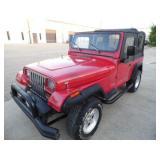 1992 Jeep Wrangler 4x4 - Runs - current bid $1050