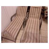 Pair of Adjustable Chaise Lounge Chairs - current bid $15