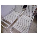 Pair of Outdoor Chaise Lounge Chairs - current bid $10