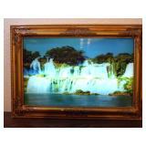Vintage Working Plug in Picture Waterfall - current bid $10