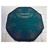 ome Casino Portable Poker Table - current bid $15
