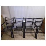 (4) Hampton Bay Outdoor Patio Chairs - current bid $10