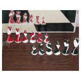Like New Art-Deco Porcelain Chess Set - current bid $10