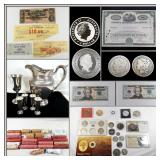 MORGAN SILVER DOLLARS, SILVER COINS, U.S CURRENCY ONLINE AUCTION