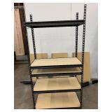"""60"""" x 36"""" x 18"""" 4-Shelf Steel Shelving Unit in Black"""