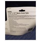 "1-1/2"" x 15"" Waste Drain Tube"