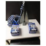 ALUMINUM BOAT ANCHOR AND  DOCK LINES