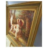 GORGEOUS FRENCH BRITTANY SPANIEL PAINTING