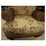 HENRY LINK WICKER CHAIR  AND TABLE