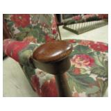 WOOD AND UPHOLSTERED ROCKER