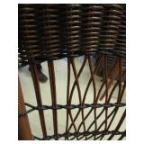 ANTIQUE PETITE WICKER DESK WITH CHAIR