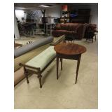 LONG BENCH WITH SIDE TABLE