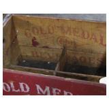 Gold Metal Beverage Crate