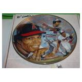 1991 Minnesota Twins Rod Carew Plate with Gold Autograph