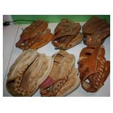 Lot of 6 80s/90s   Baseball Signature Series Gloves
