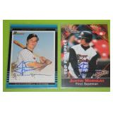 2002 Bowman and 2001 Multi Ad Justin Morneau In Person Autograph Lot