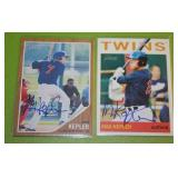 2011 and 2013 Topps Heritage Minors Max Kepler In Person Autograph Lot