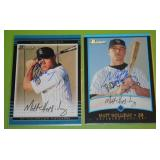 2001 and 2002 Bowman Matt Holliday In Person Autograph Lot