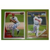 2010 Topps Pro Debut and 2011 Heritage Kyle Gibson In Person Autograph Lot