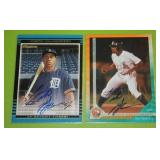 2003 Grandstand and 2002 Bowman Curtis Granderson In Person Autograph Lot