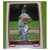 2012 Bowman Jose Berrios Rookie In Person Autograph