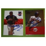 2008 Tristar and 2007 Pro Debut Ben Revere In Person Autograph Lot