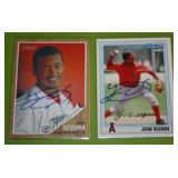 2011 Topps Heritage Minors and 2010 Bowman Jean Segura In Person Autograph Lot