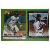 2004 Grandstand and 2002 Bowman Denard Span In Person Autograph Lot