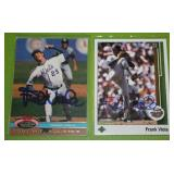 1989 Upper Deck and 1992 Stadium Club Frank Viola In Person Autograph Lot