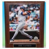 Jose Canseco 8x10 Photo Plaque Auto