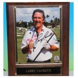 Larry Laoretti 8x10 Photo Plaque Auto