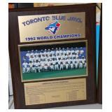 1992 and 1993 Toronto Blue Jays World Series Plaque