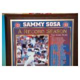 1998 Sammy Sosa 62 Home Run Season Plaque