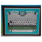 1993 Florida Marlins Inagural Season Plaque
