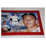 New York Yankees Framed Photo Mickey Mantle