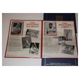 Lot of 4 MLB Commemorative Booklets with Cards