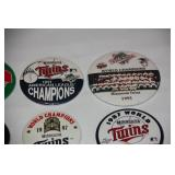 Lot of 16 Different Minnesota Twins Buttons
