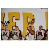 1999 2000 Minnesota Gophers Poster with Multi Autograph