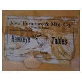 Antique Tiger Walnut Veneer Craftsman Hawkeye Entry Table